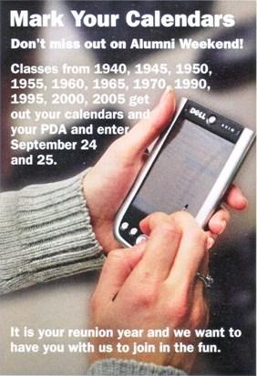 Mark You Calendars for Alumni Weekend
