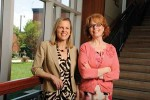 The Johns Hopkins University School of Nursing 2012 Excellence in Teaching Award was awarded to Laura Taylor, PhD, RN (Baccalaureate teaching, right) and Martha Sylvia, PhD, MSN, MBA, RN (Graduate teaching, left) for excellent teaching, mentoring, respectfulness, and encouragement.