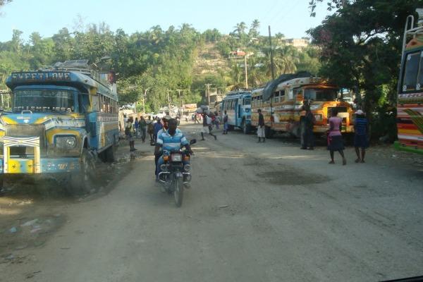 Haiti car view