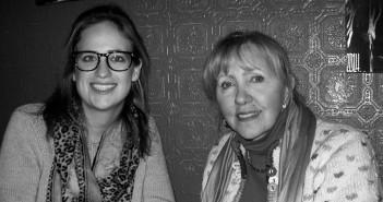 Madeleine Barab, '14, Freda Creutzburg scholar, left, with Deb Corteggiano Kennedy, '73