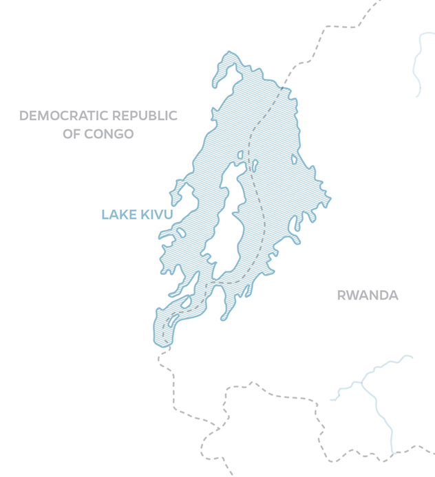 Lake Kivu map