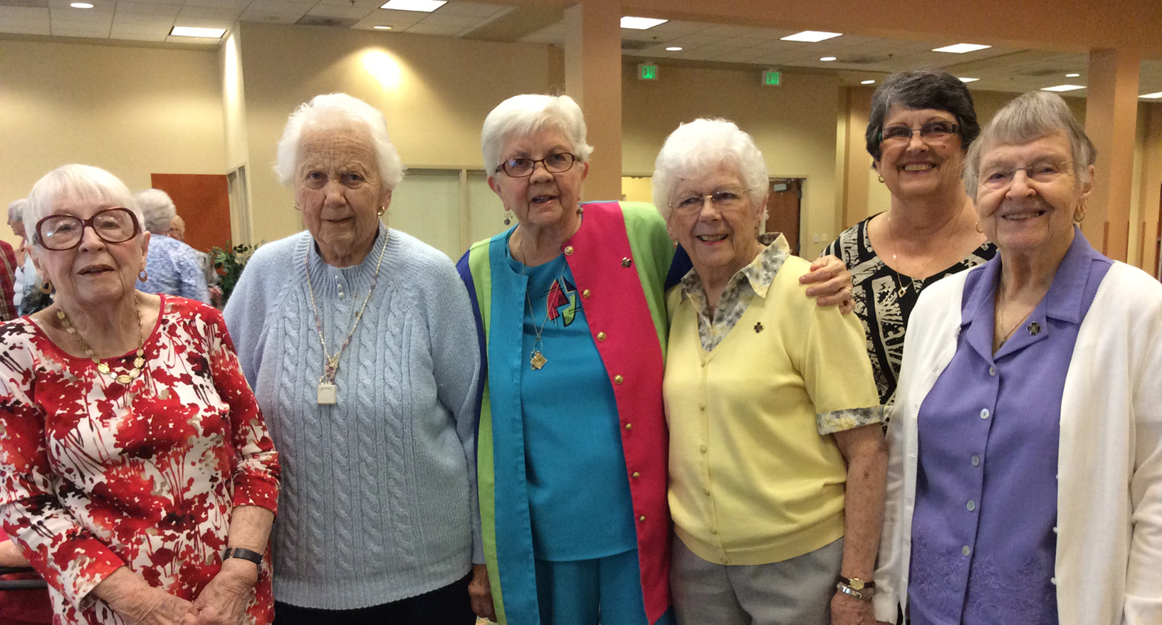 A group of retired Church Home nurses