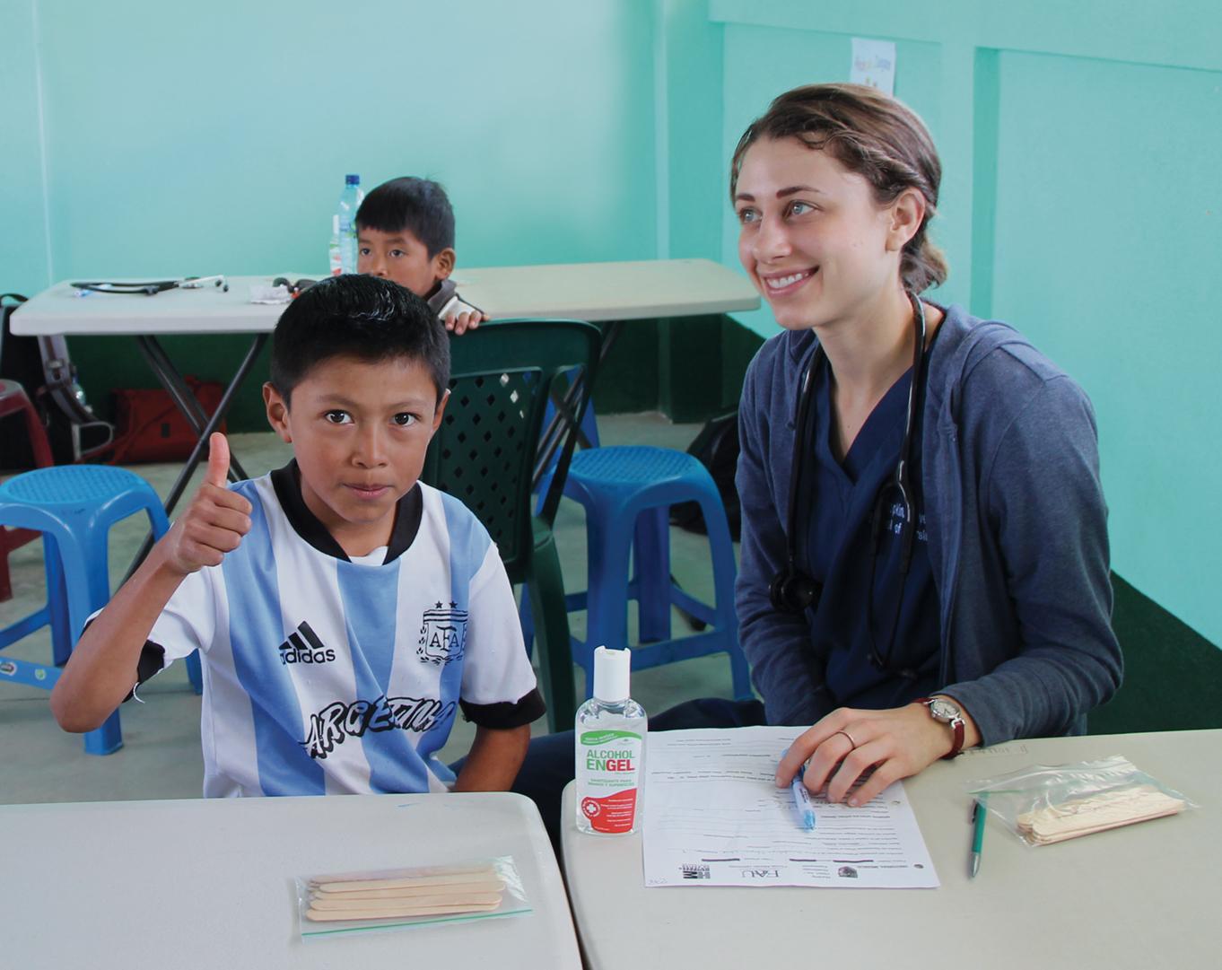 Kathryn Kleinjan gets good grades at a Guatemalan clinic.