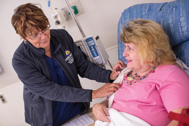 patient at Sidney Kimmel Cancer Center