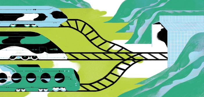 Train Illustration by Leonard Peng
