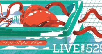 Heart transplant illustration by Leonard Peng