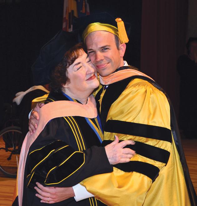 Scott Newton with mentor Maryann Fralic at his DNP graduation