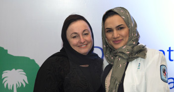 Dean Patricia Davidson with a Saudi DNP