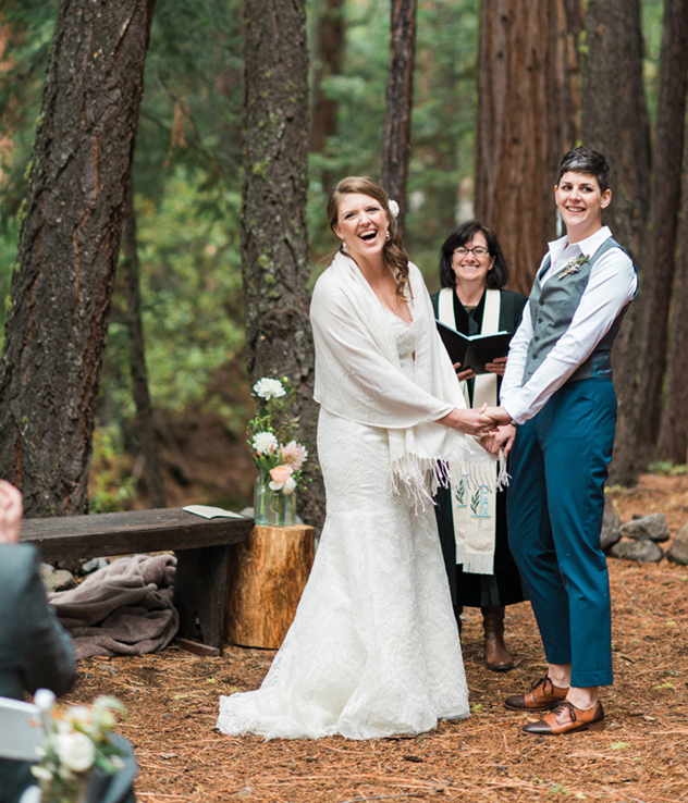 Lindsay Bischel and Jes Deputy were married in a beautiful outdoor ceremony in Graeagle, CA.