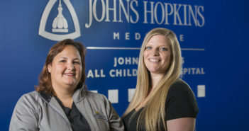 Left to right, Cherilyn Ashlock, R.N., Magnet Manager and Kentlee Battick, R.N, Clinical Nurse Leader, Johns Hopkins All Children's Hospital.