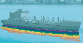 Illustration by Stephan Schmitz of USNS Harvey Milk